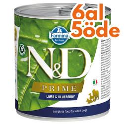 N&D (Naturel&Delicious) - ND Prime Kuzu Etli ve Yaban Mersini Köpek Konservesi 285 Gr - 6 Al 5 Öde