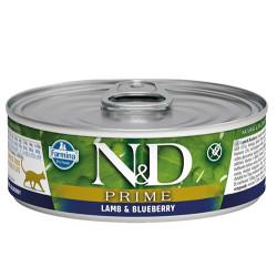 N&D (Naturel&Delicious) - N&D Prime Kuzu Etli ve Yaban Mersinli Kedi Konservesi 80 Gr - 6 Al 5 Öde