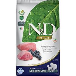 N&D (Naturel&Delicious) - ND Prime Tahılsız Kuzu Yaban Mersini Orta ve Büyük Irk Köpek Maması 2,5 Kg + 2 Adet Temizlik Mendili