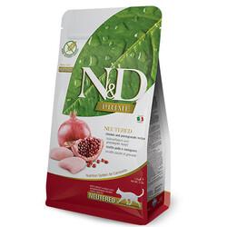 N&D (Naturel&Delicious) - ND Prime Tahılsız Tavuk Nar Kısırlaştırılmış Kedi Maması 1,5 Kg + 5 Adet Temizlik Mendili