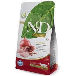 N&D (Naturel&Delicious) - ND Prime Tahılsız Tavuk Nar Kısırlaştırılmış Kedi Maması 5 Kg + 5 Adet Temizlik Mendili