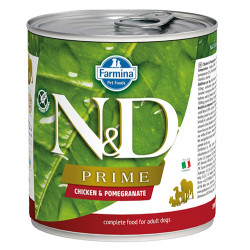 N&D (Naturel&Delicious) - ND Prime Tavuk Etli ve Narlı Köpek Konservesi 285 Gr