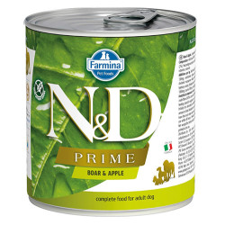N&D (Naturel&Delicious) - N&D Prime Yaban Domuzu ve Elmalı Köpek Konservesi 285 Gr