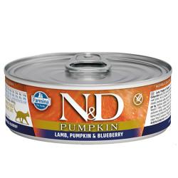 N&D (Naturel&Delicious) - N&D Pumpkin Balkabak ve Kuzu Etli Kedi Konservesi 80 Gr - 6 Al 5 Öde
