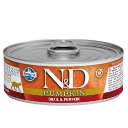 N&D (Naturel&Delicious) - N&D Pumpkin Balkabaklı ve Bıldırcın Etli Kedi Konservesi 80 Gr - 6 Al 5 Öde