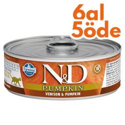 N&D (Naturel&Delicious) - ND Pumpkin Balkabaklı ve Geyik Etli Kedi Konservesi 80 Gr - 6 Al 5 Öde