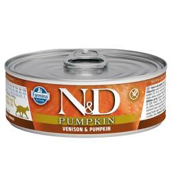 N&D (Naturel&Delicious) - N&D Pumpkin Balkabaklı ve Geyik Etli Kedi Konservesi 80 Gr