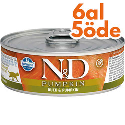 N&D (Naturel&Delicious) - ND Pumpkin Balkabaklı ve Ördek Etli Kedi Konservesi 80 Gr - 6 Al 5 Öde
