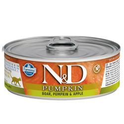 N&D (Naturel&Delicious) - N&D Pumpkin Balkabaklı ve Yaban Domuzlu Kedi Konservesi 80 Gr - 6 Al 5 Öde