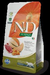 N&D (Naturel&Delicious) - ND Tahılsız Ördekli ve Bal Kabaklı Kedi Maması 1,5 Kg+5 Adet Temizlik Mendili