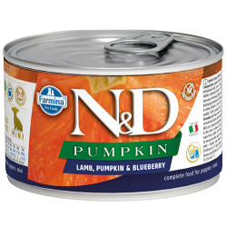 N&D (Naturel&Delicious) - ND Puppy Mini Pumpkin Balkabak Kuzu ve Yaban Mersini Yavru Köpek Konservesi 140 Gr