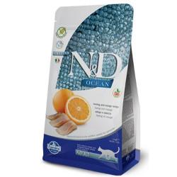 N&D (Naturel&Delicious) - ND Ocean Tahılsız Balık Portakal Kedi Maması 1,5 Kg+5 Adet Temizlik Mendili