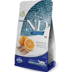 N&D (Naturel&Delicious) - ND Ocean Tahılsız Balık Portakal Kedi Maması 5 Kg+5 Adet Temizlik Mendili