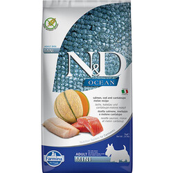 N&D (Naturel&Delicious) - ND Ocean Tahılsız Somon Morina Küçük Irk Köpek Maması 7 Kg + 10 Adet Temizlik Mendili