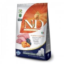 N&D (Naturel&Delicious) - ND Tahılsız Balkabak Kuzu Medium Maxi Yavru Köpek Maması 12 Kg + 10 Adet Temizlik Mendili