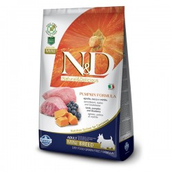 N&D (Naturel&Delicious) - ND Tahılsız Balkabaklı Kuzu Küçük Irk Köpek Maması 2,5 Kg+5 Adet Temizlik Mendili