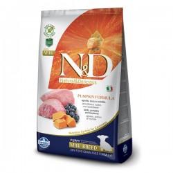 N&D (Naturel&Delicious) - ND Tahılsız Balkabaklı Kuzu Küçük Irk Yavru Köpek Maması 7 Kg + 10 Adet Temizlik Mendili