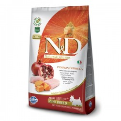N&D (Naturel&Delicious) - N&D Tahılsız Balkabaklı Tavuk Küçük Irk Köpek Maması 2,5 Kg+5 Adet Temizlik Mendili