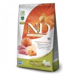 N&D (Naturel&Delicious) - ND Tahılsız Balkabaklı Yaban Domuzlu Küçük Irk Köpek Maması 2,5 Kg + 2 Adet Temizlik Mendili