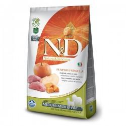 N&D (Naturel&Delicious) - ND Tahılsız Balkabak Yaban Domuzu Medium Maxi Köpek Maması 12 Kg+10 Adet Temizlik Mendili