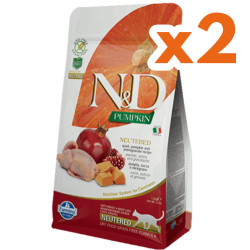 N&D (Naturel&Delicious) - ND Tahılsız Bıldırcın Nar Kısırlaştırılmış Kedi Maması 1,5 Kgx2 Adet