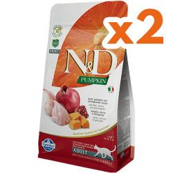 N&D (Naturel&Delicious) - N&D Tahılsız Bıldırcın Nar ve Balkabaklı Kedi Maması 1,5 Kgx2 Adet