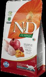 N&D (Naturel&Delicious) - ND Tahılsız Bıldırcın Nar ve Balkabaklı Kedi Maması 5 Kg+5 Adet Temizlik Mendili