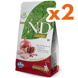 N&D (Naturel&Delicious) - ND Tahılsız Kitten Tavuk Nar Yavru Kedi Maması 1,5 Kgx2 Adet