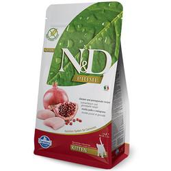 N&D (Naturel&Delicious) - ND Tahılsız Kitten Tavuk Nar Yavru Kedi Maması 1,5 Kg + 100 Gr Yaş Mama