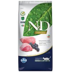 N&D (Naturel&Delicious) - ND Tahılsız Kuzu Eti ve Yaban Mersini Kedi Maması 10 Kg + 10 Adet Temizlik Menidili