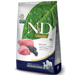 N&D (Naturel&Delicious) - ND Tahılsız Kuzu Yaban Mersini Orta ve Büyük Irk Köpek Maması 12 Kg+10 Adet Temizlik Mendili