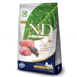 N&D (Naturel&Delicious) - ND Tahılsız Kuzu Eti Yaban Mersini Küçük Irk Köpek Maması 7 Kg+5 Adet Temizlik Mendili