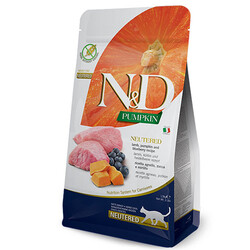 N&D (Naturel&Delicious) - ND Tahılsız Kuzu Etli ve Bal Kabaklı Kısırlaştırılmış Kedi Maması 1,5 Kg + 5 Adet Temizlik Mendili