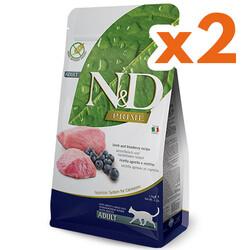 N&D (Naturel&Delicious) - ND Prime Tahılsız Kuzu Yaban Mersini Kedi Maması 1,5 Kgx2 Adet