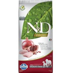 N&D (Naturel&Delicious) - ND Tahılsız Maxi Tavuk Nar Büyük ve Orta Irk Köpek Maması 12 Kg+10 Adet Temizlik Mendili