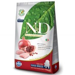 N&D (Naturel&Delicious) - ND Tahılsız Maxi Tavuk Nar Büyük Irk Yavru Köpek Maması 2,5 Kg+5 Adet Temizlik Mendili