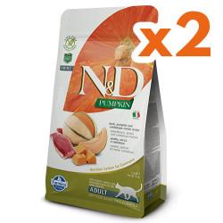 N&D (Naturel&Delicious) - ND Tahılsız Ördekli ve Bal Kabaklı Kedi Maması 1,5 Kgx2 Adet
