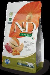 N&D (Naturel&Delicious) - ND Tahılsız Ördekli ve Bal Kabaklı Kedi Maması 5 Kg+5 Adet Temizlik Mendili