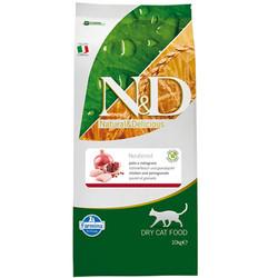 N&D (Naturel&Delicious) - ND Tahılsız Tavuk Nar Kısırlaştırılmış Kedi Maması 10 Kg + 10 Adet Temizlik Mendili