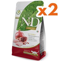 N&D (Naturel&Delicious) - ND Prime Tahılsız Tavuk Nar Kısırlaştırılmış Kedi Maması 1,5 Kgx2 Adet