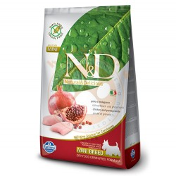 N&D (Naturel&Delicious) - ND Tahılsız Tavuk Nar Küçük Irk Köpek Maması 7 Kg+5 Adet Temizlik Mendili