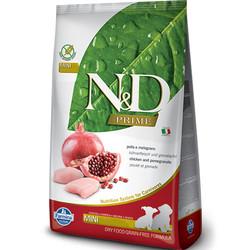 N&D (Naturel&Delicious) - ND Prime Tahılsız Tavuk Nar Küçük Irk Yavru Köpek Maması 2,5 Kg+5 Adet Temizlik Mendili