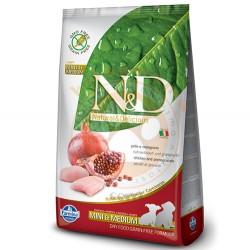 N&D (Naturel&Delicious) - ND Tahılsız Tavuk Nar Küçük ve Orta Irk Yavru Köpek Maması 7 Kg + 5 Mendil