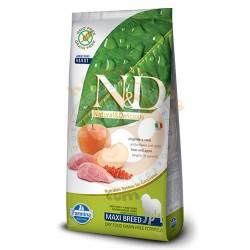 N&D (Naturel&Delicious) - ND Tahılsız Yaban Domuzu Elma Büyük Irk Köpek Maması 12 Kg+10 Adet Mendil