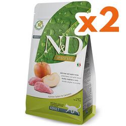 N&D (Naturel&Delicious) - ND Prime Tahılsız Yaban Domuzu Elma Kedi Maması 1,5 Kgx2 Adet