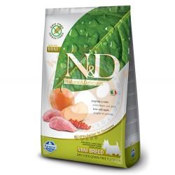 N&D (Naturel&Delicious) - ND Tahılsız Yaban Domuzu Elmalı Küçük Irk Köpek Maması 2,5 Kg + 2 Adet Temizlik Mendili