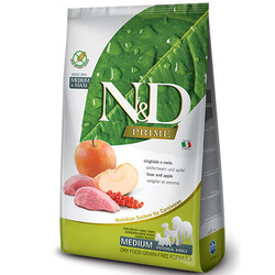 N&D (Naturel&Delicious) - ND Tahılsız Yaban Domuzu Elmalı Orta ve Büyük Irk Köpek Maması 2,5 Kg + 5 Adet Temizlik Mendili