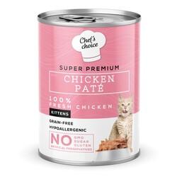 Chefs Choice - New Chefs Choice Pate Chicken Kitten Tavuklu Tahılsız Ezme Yavru Kedi Yaş Maması 400 Gr