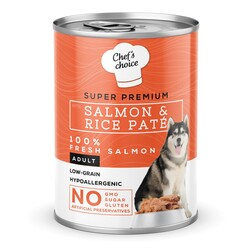 Chefs Choice - New Chefs Choice Pate Salmon&Rice Somon Pirinçli Köpek Yaş Maması 400 Gr