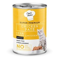 Chefs Choice - New Chefs Choice Pate Chicken Tavuklu Tahılsız Ezme Kedi Yaş Maması 400 Gr